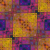 art colorful ornamental vintage pattern