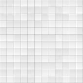 Tile Background. Abstract Block Pattern. Brick Texture. Square Tiles. White, Grey Colors. Flat Gray  poster