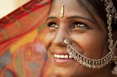 picture of rajasthani  - Portrait of an India Rajasthani woman - JPG