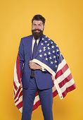 Successful Businessman Lawyer Or Politician. Business People. Independence Businessman Bearded Man I poster