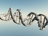 Damaged White DNA Strands