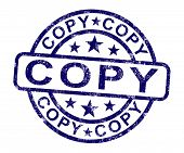 Copy Stamp Shows Duplicate Replicate Or Reproduce