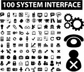 100 system interface & administration icons set, vector