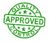 Quality Control Approved Stamp Shows Excellent Product