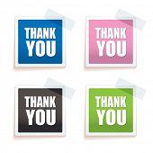 bunten Papier-Tag mit vielen Dank Text auf Ihnen