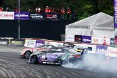 KUALA LUMPUR - MAY 19: Japan's Max Orido and Daigo Saito (back) drift in tandem at the Nations Cup c