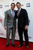 NEW YORK-MAY 31: Retired NHL players Peter and Chris Ferraro attend the 4th annual Tuck�¢�?�?s C