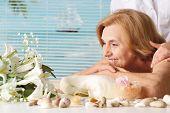 Beautiful Caucasian Elderly Woman At A Reception