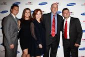 NEW YORK-JUNE 4: Caroline Manzo (center) and family attend Samsung's Annual Hope for Children gala a