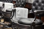 Closeup.stylish Vintage Barber Chair. Barbershop Theme.. Barber Shop Chair. Barbershop Armchair, Mod poster
