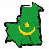 Map Flag Mauritania