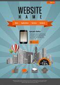 Retro style design. Website template vintage style. Vector. Editable.
