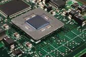 Closeup de microprocessador do computador