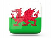 Square Icon Of Wales
