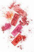 Cosmetic Powder Brush On White Background