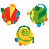 Set Of Different Cartoon Symbols