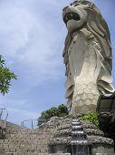 Sentosa Island Merlion Statue Singapore