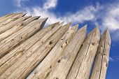 stock photo of stockade  - Natural wooden background - JPG