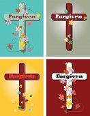 Floral set of crosses, Forgiven