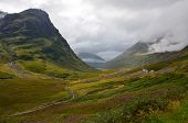 Glencoe, Scotland on a cloudy day