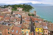Old Town Of Sirmione On Lake Garda