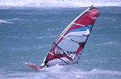 Windsurfing On A Beach