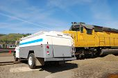pic of tank truck  - Simulated Train and Tank Truck accident with a WMD component  - JPG