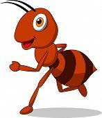 Cute ant running