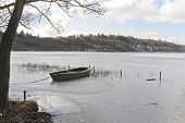 Dinghy In A Frozen Lake