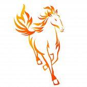 Fire Horse Running