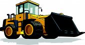 stock photo of backhoe  - A vector image of an isolated cement mixer truck - JPG
