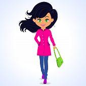 fashion girl green