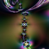 Fractal-necklace