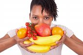 stock photo of brazilian food  - Young happy black  - JPG