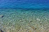 Clear Adriatic sea detail