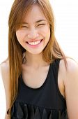 Beautiful Asian Woman Laughing.