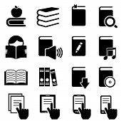 Books, Literature And Reading Icons