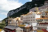 picture of gibraltar  - View of houses in Gibraltar in spring - JPG