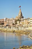 Dwarka Bay And Krisna Temple