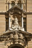 Statue Of Queen Victoria At Town Hall Of Sydney Australia