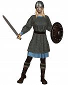 Viking or Anglo-Saxon Shield Maiden