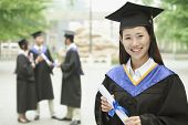 Young female university graduate