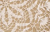 Canvas With Crochet Lace