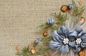 Background With Handmade Flowers Arrangement