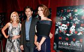 NEW YORK-AUG 19: Actors Julia Stiles (L) Eric Bana and Rebecca Hall (r) attend the 'Closed Circuit'