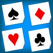Playing card's signs vector