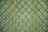 Old Metal Grill Fence