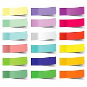 stock photo of blank check  - collection of colorful vector sticky notes - JPG