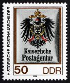 Postage Stamp Gdr 1990 Coat Of Arms Of Imperial Postal Agency