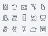 picture of household  - Set of household appliances icons - JPG